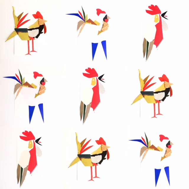 Collage Roosters 1