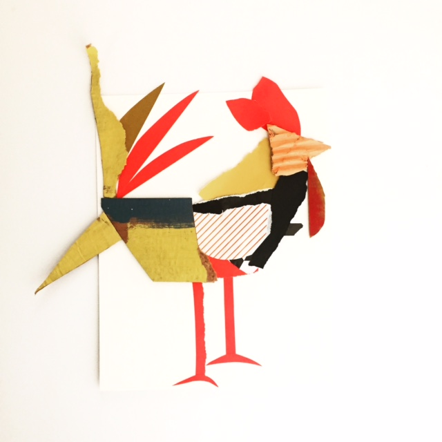 Collage Roosters 2