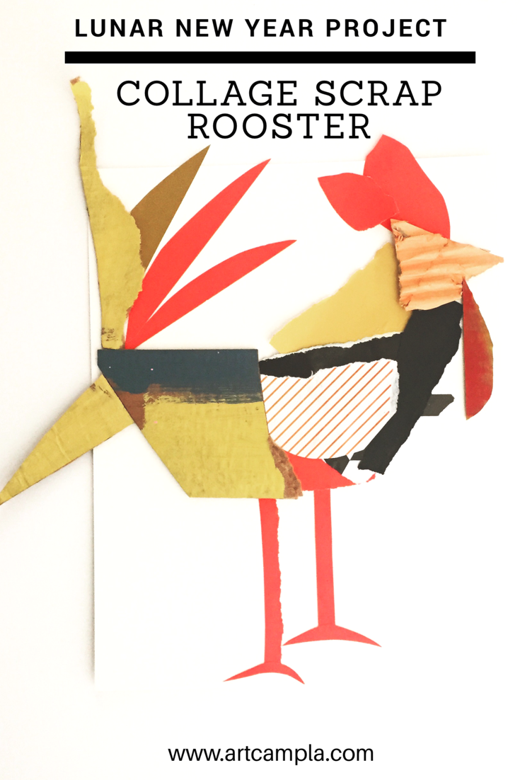 Collage Roosters 7