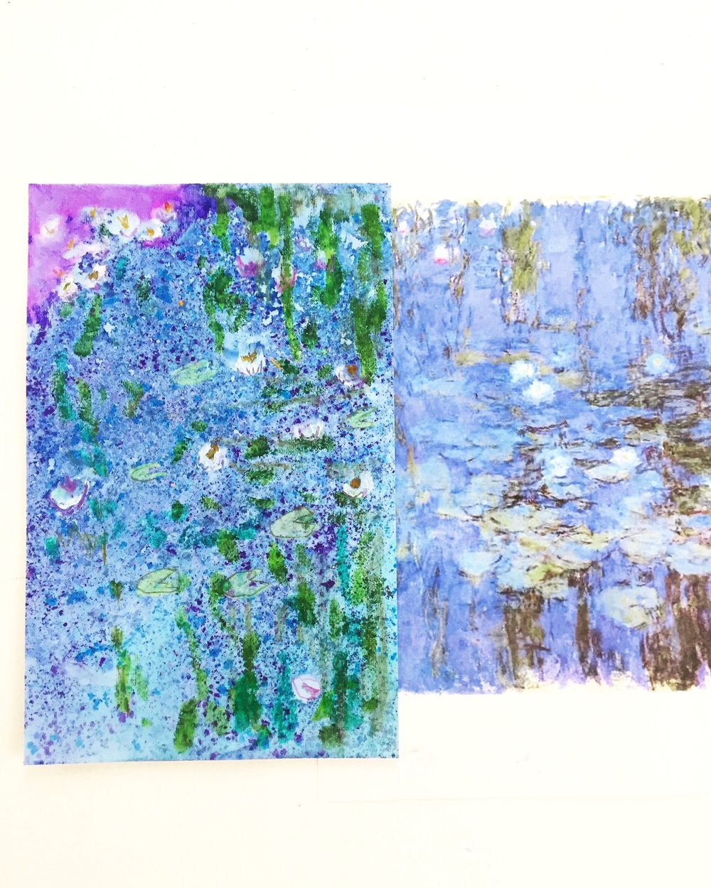 Floating Chalk Impressionist Paintings 9