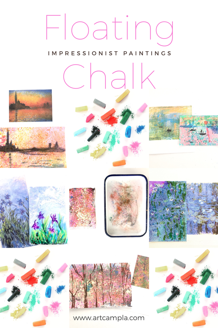 Floating Chalk Impressionist Paintings 12