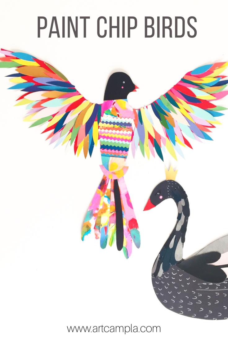 Paint Chip Birds 6