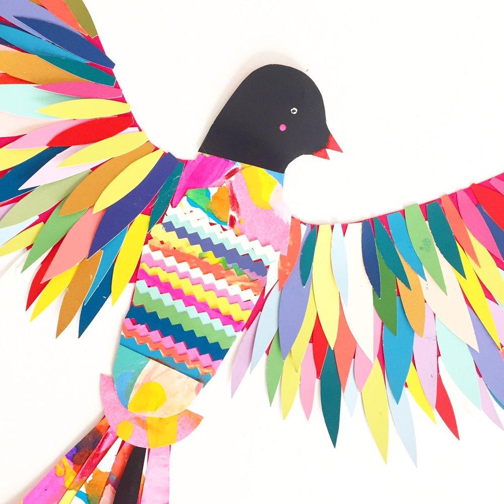 Paint Chip Birds 5