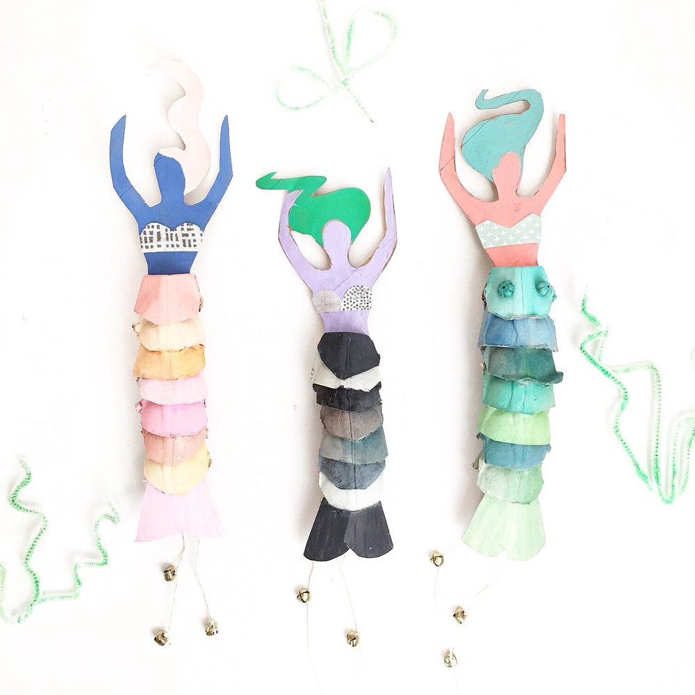 Egg Carton Mermaid Dolls 10