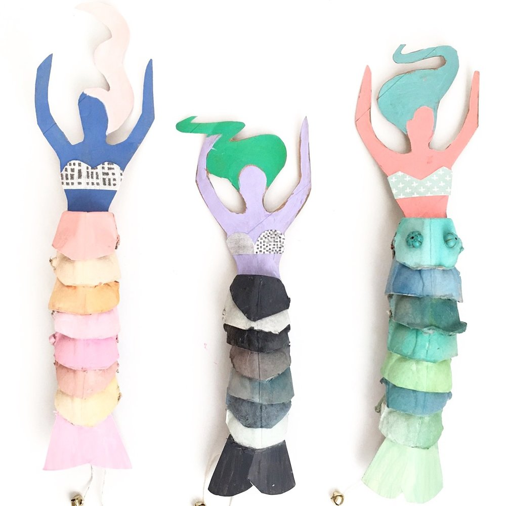 Egg Carton Mermaid Dolls 13