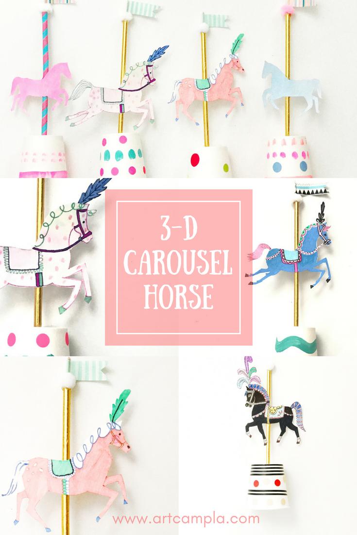 3-D Carousel Horse 8