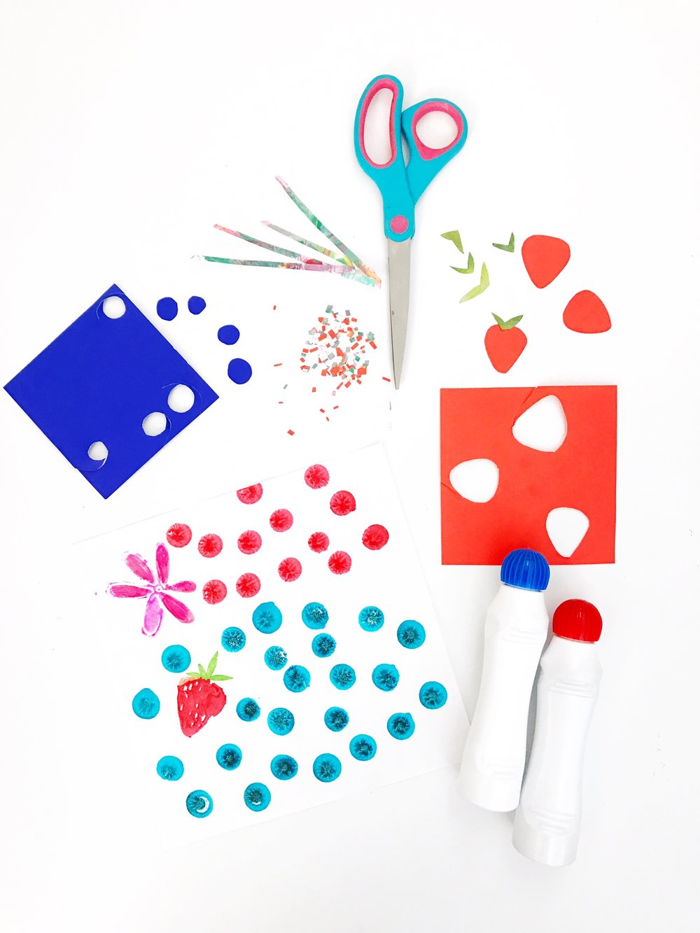 DON'T FORGET THE TOPPINGS! DOT MARKER BERRIES OR CUT PAPER COLLAGE?