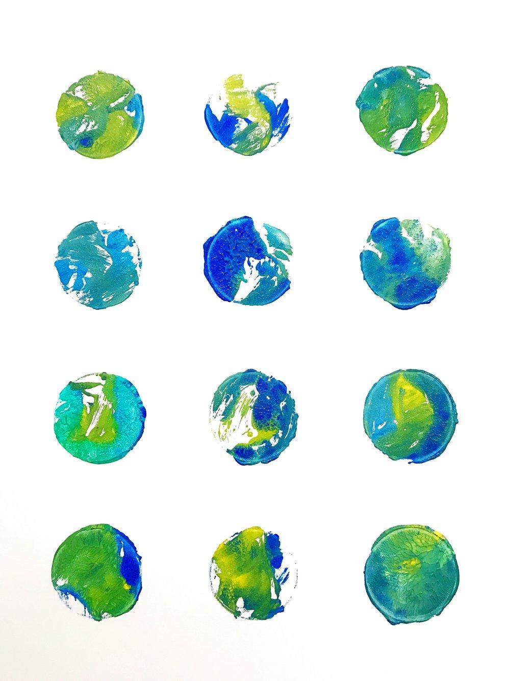 EARTH DAY MUFFIN TIN PRINTS
