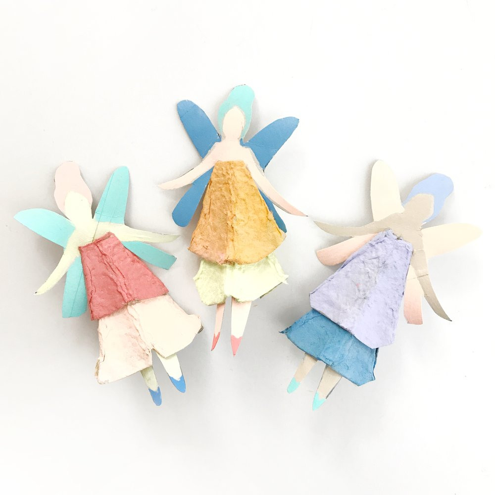 Egg Carton Fairy Dolls 1