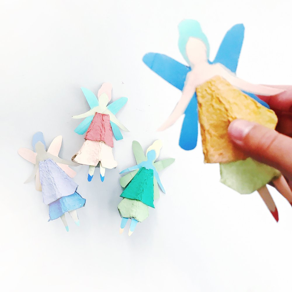 Egg Carton Fairy Dolls 9