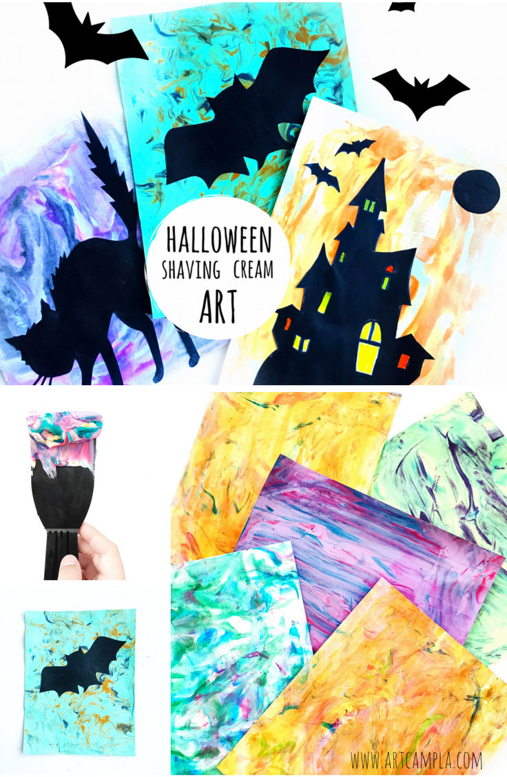 Halloween Shaving Cream Art