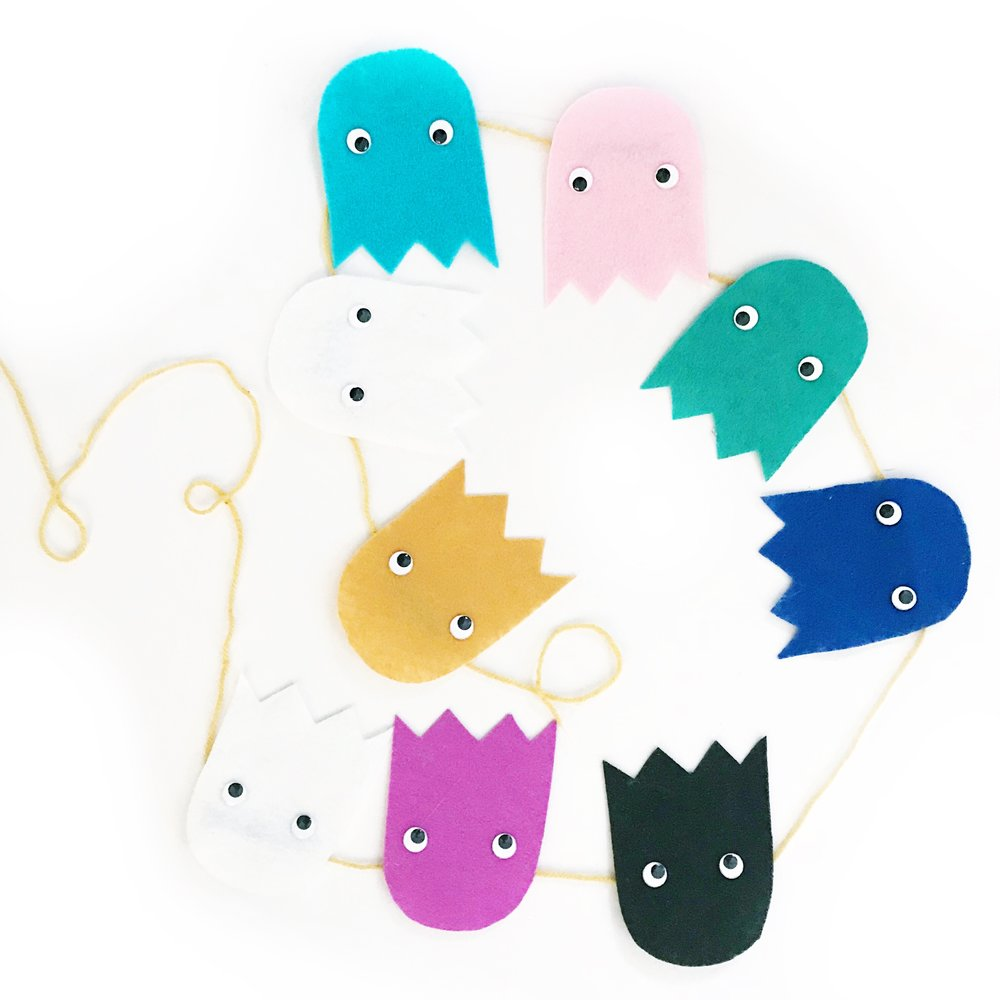 Colorful Ghost Garland