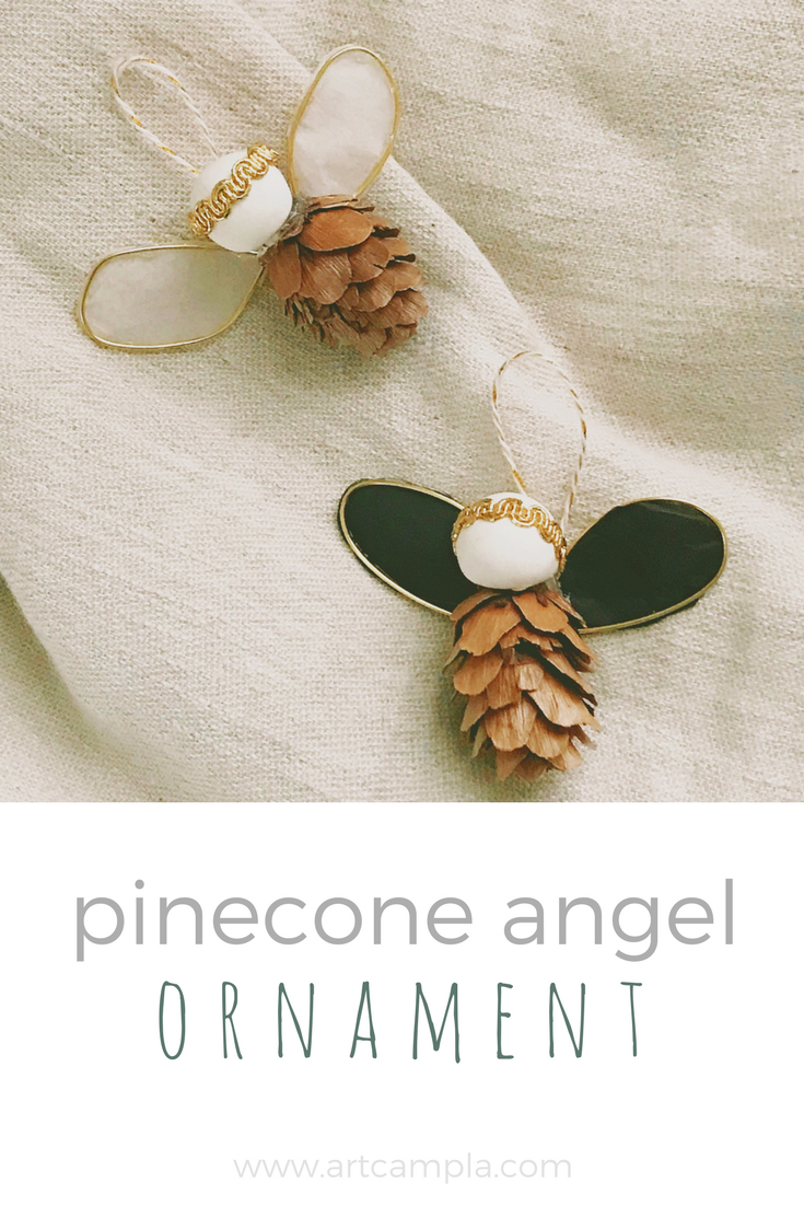 PINECONE ANGEL ORNAMENT