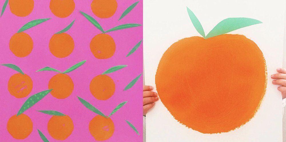 MANDARIN ORANGE MUFFIN TIN PRINTS + PAINTING