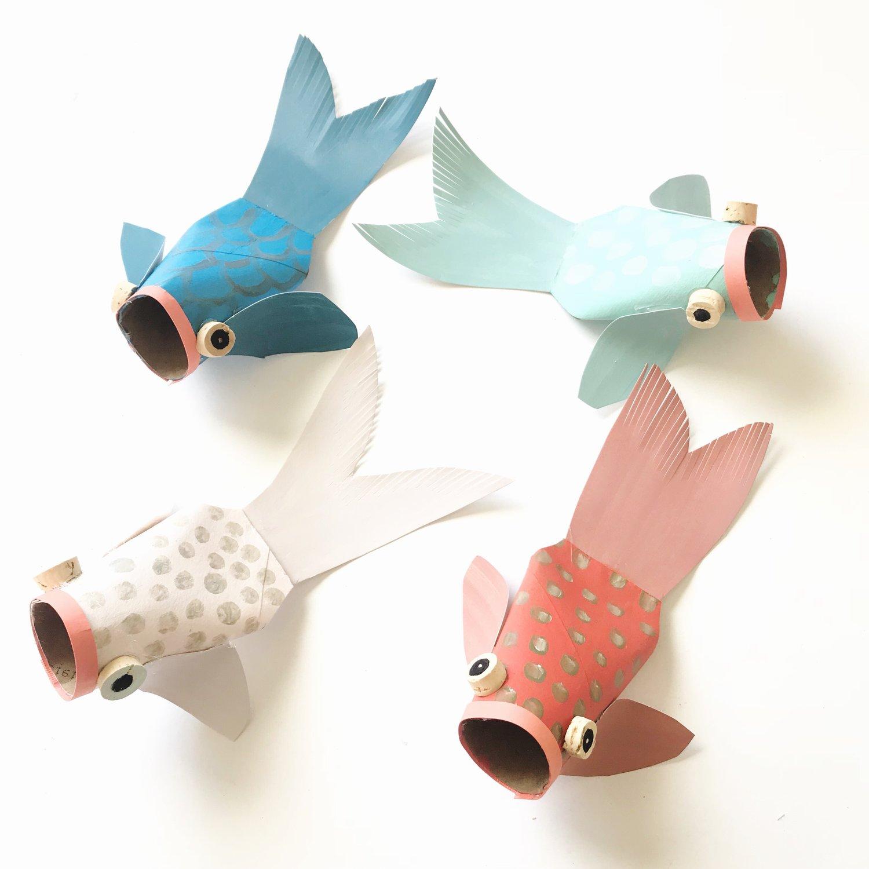 Paper Tube Koi Fish — ART CAMP