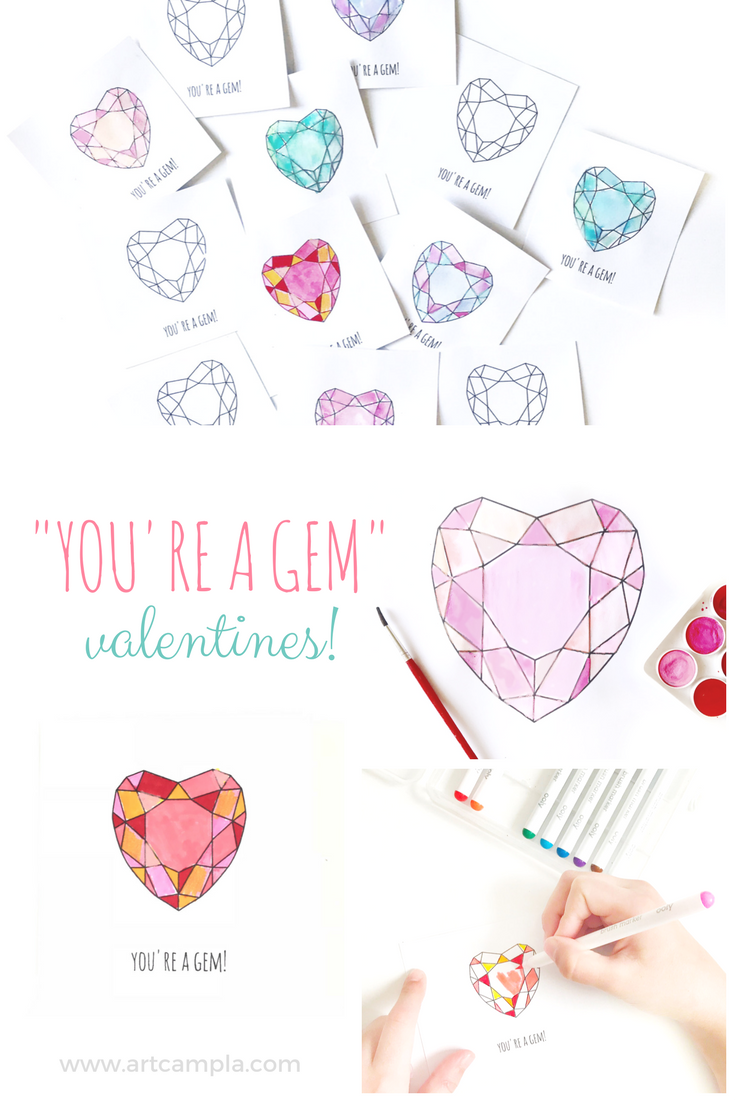You're a Gem - Valentine Printable!