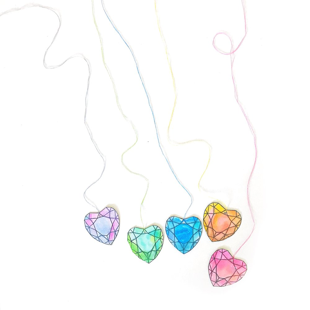 GEM HEART VALENTINE PRINTABLE
