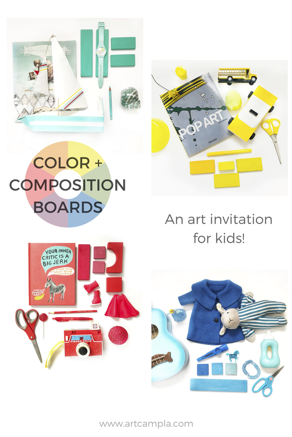 ART INVITATION FOR KIDS: COLOR + COMPOSITION BOARD