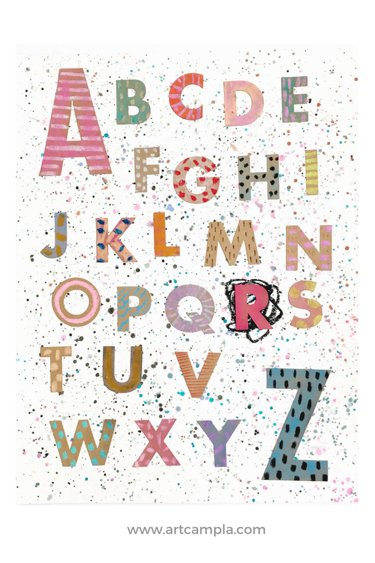KIDS DIY: Artsy Alphabet!