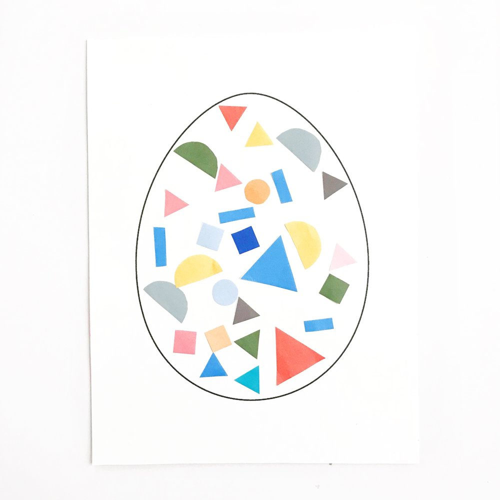 GEOMETRIC COLLAGE EASTER EGGS