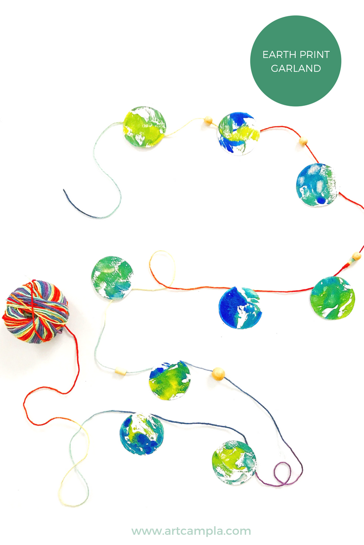 EARTH PRINT GARLAND