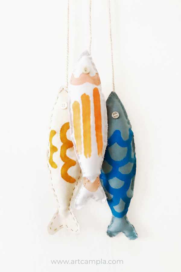 Hand Painted Fish Softie