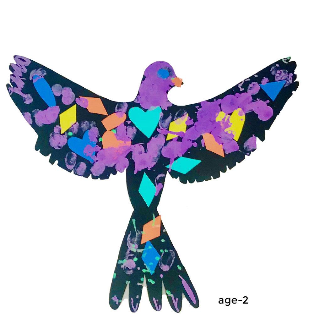 rainbow bird project _ ART CAMP