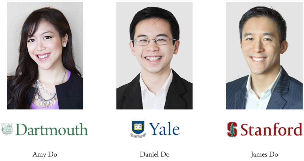 Our innovative consulting approach is designed by three Mission San Jose High School graduates who were accepted to Yale, Stanford, Dartmouth, Duke, CalTech, Cornell, UPenn, Johns Hopkins, and every UC.