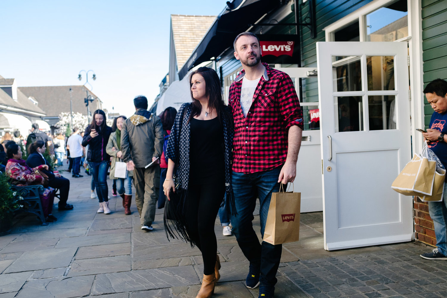 Fuji X100F on the streets of Bicester Village