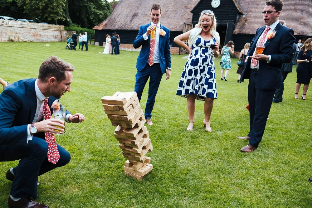 Wedding games at Lains Barn Wedding Venue