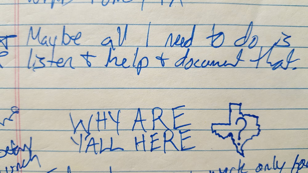 A note I scribbled at work on 12/7/2016 on how to approach this project and a first draft of the logo/banner for this website.