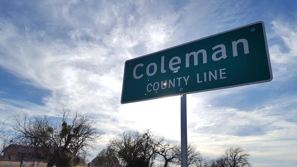 Nothing says Coleman County Line like a little bit of buckshot through the sign :)