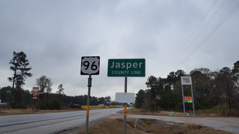 Had to stop off in the county seat of Jasper, which is also called Jasper, to make a quick truck repair.