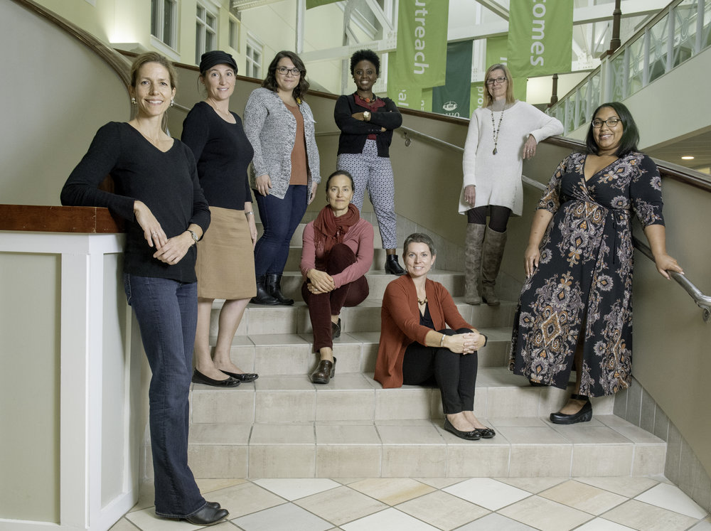Reproductive and Sexual Health Initiative researchers at Ohio University pose for a portrait on Oct. 15, 2018.