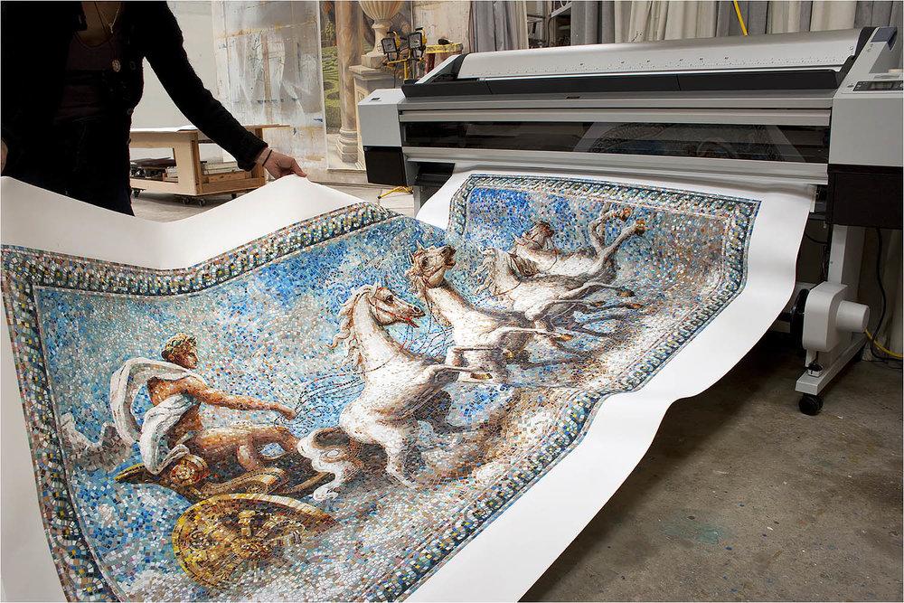 hand painted murals custom fine art paintings glass tile mosaic