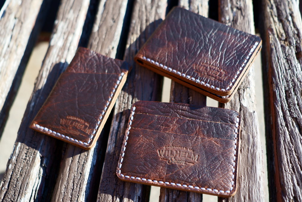 Wilhelm Seam X Ouimillie - Bison leather wallets available exclusively in-store for Fall/Winter 2018