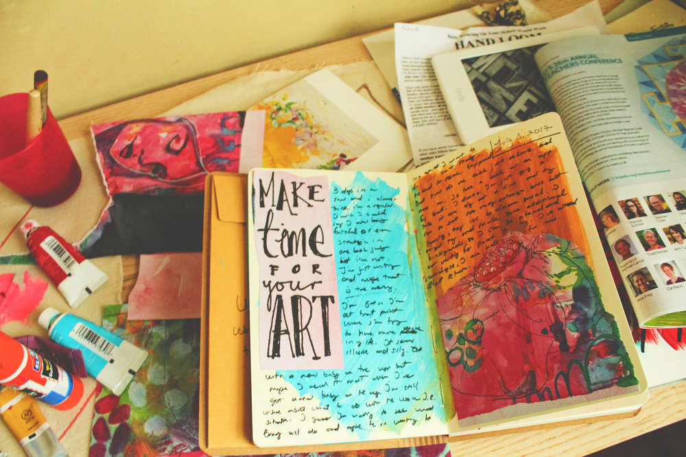 make time for your art - ~ via jane davenport collage papers