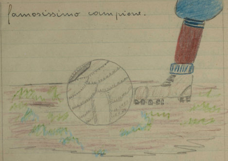 Franco gioca il calcio.