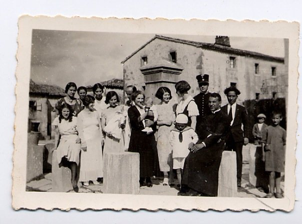 Franco's baptism in Draguccio.