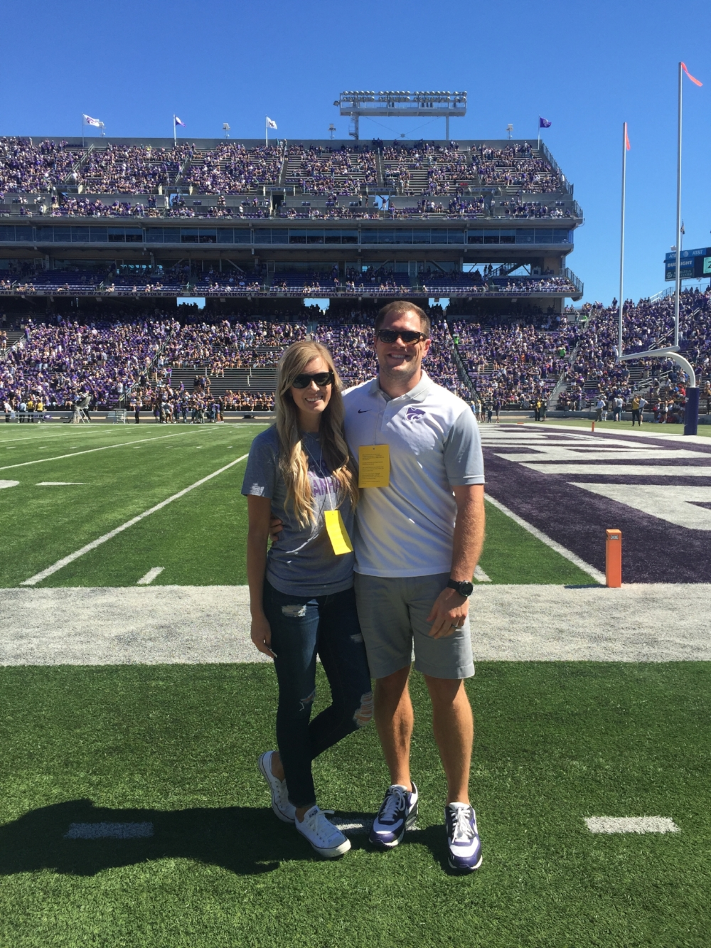 On the field before the game for a former player even for Nolan