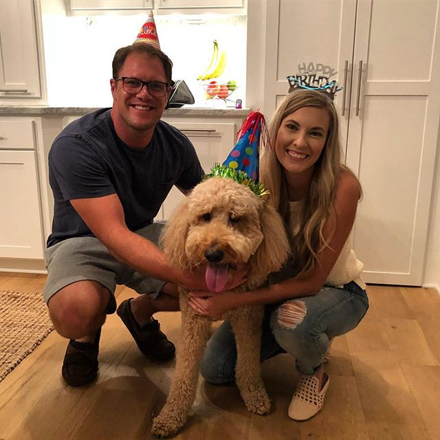 Happy 4th Birthday, Kauffman! My birthday wish for you is that you always know how special you are and how loved you are by so many! #kauffmanahlvers #goldendoodle #doodlesofinstagram #dogbirthdayparty