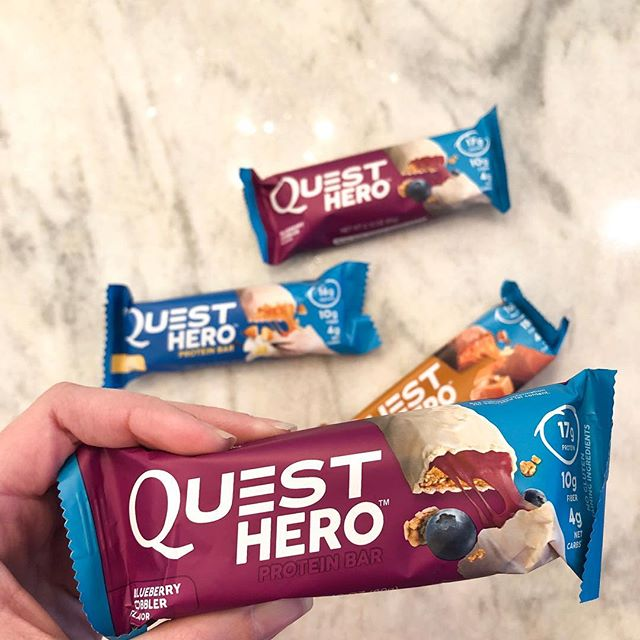 Today's @questnutrition bar of choice! Have you had a chance to try their Hero bars?! They're my personal favorite for a healthy quick mid-day snack or sweet treat. #WelcomeQuest #OnaQuest ##QuestSquad #ad