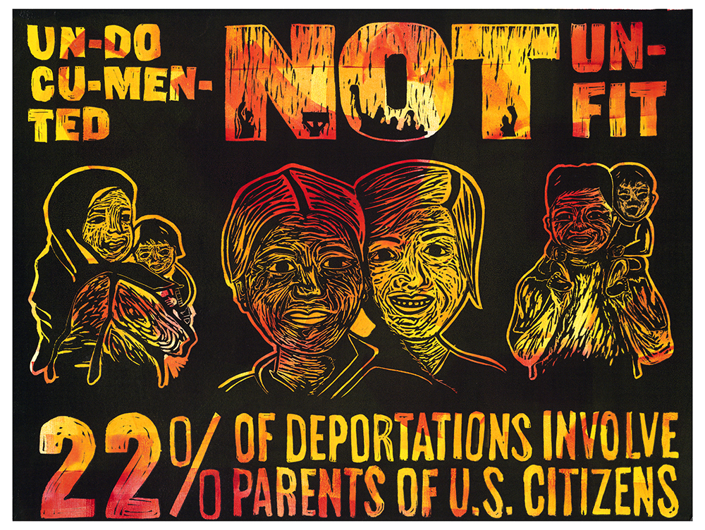 """Undocumented Not Unfit"" Artwork by Jeanette Lim and Sophia Villarreal"