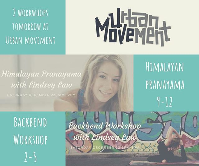 Come out and tomorrow for these great workshops by @lindseylawyoga! Sign up info in bio . . . . . #urbanmovement #movementculture #backbend #yoga #himalayanpranayama #yogaeverydamnday #houstonyoga #fitness #flexibility #yogisofinstagram #balance #flexible