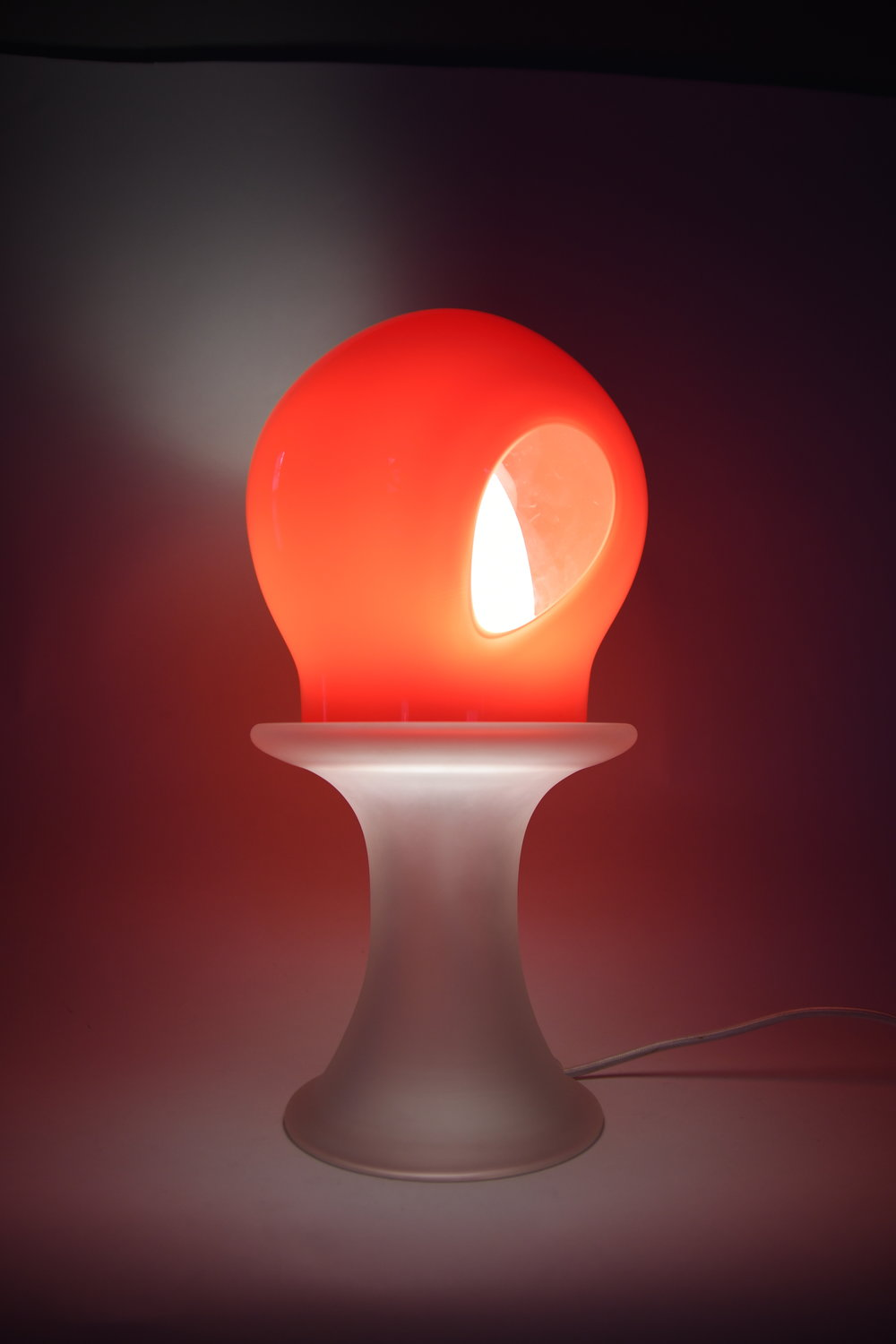 Red Lens Table Lamp.