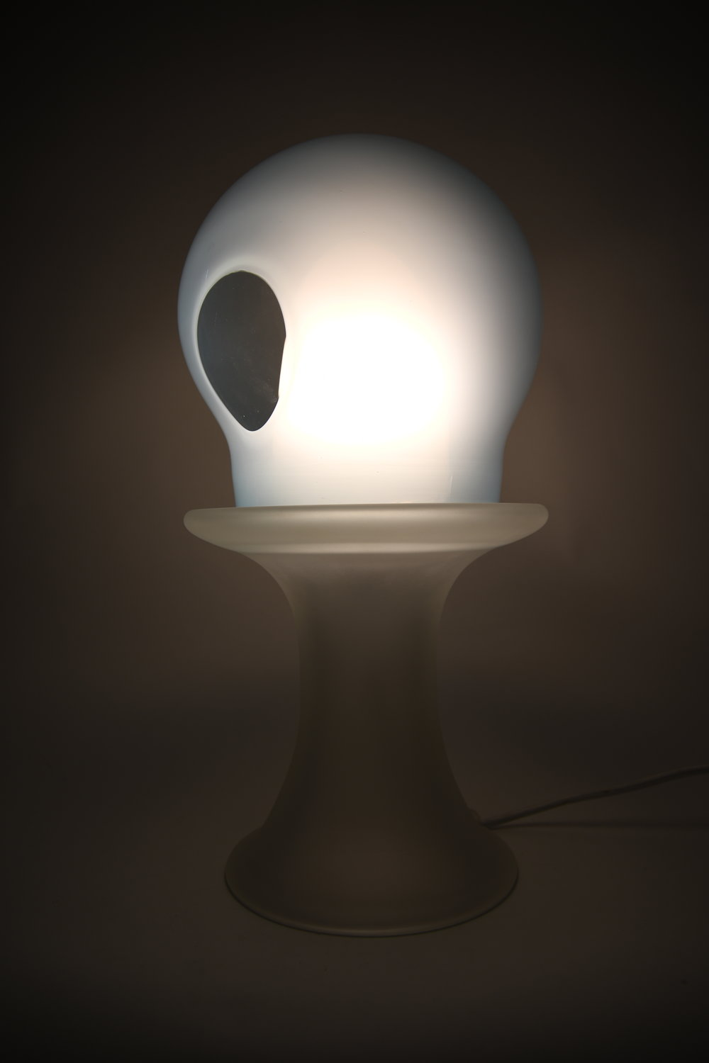 Blue Lens Table Lamp.