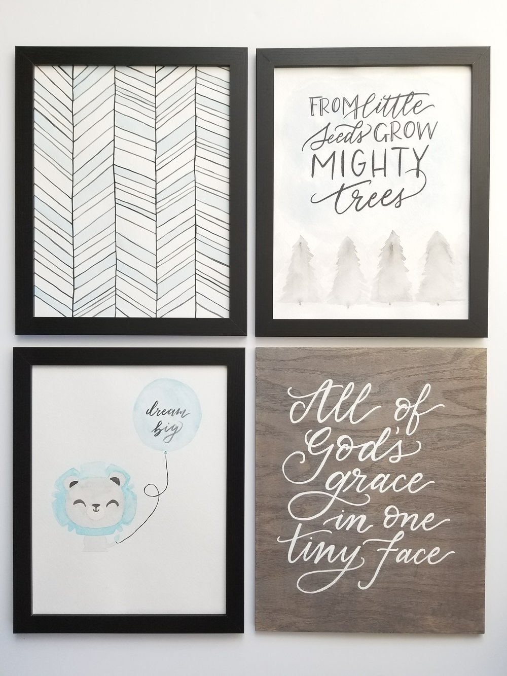 Custom nursery wall art set
