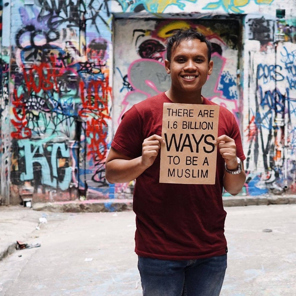 To me, being Muslim means treating others the way I want to be treated. It's being kind to everyone I meet including animals and the environment. It means having a positive attitude no matter what life bring you. - Azwan