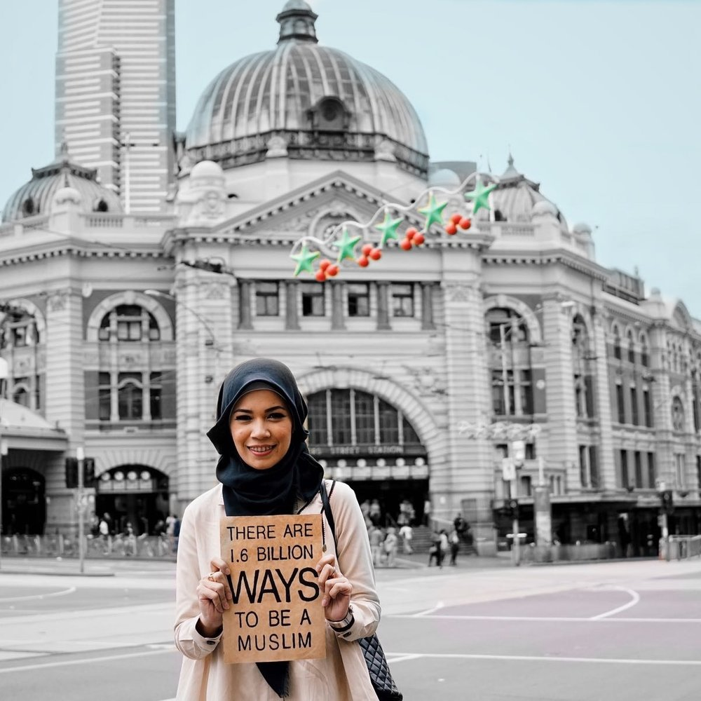 As a mother, being Muslim to me means still having fun and appreciating all that the world has to offer. I have Seven children but I still travel around the world taking my children one at a time. My faith teaches me to go out and appreciate all the wonderful people I meet along the way -Dewi