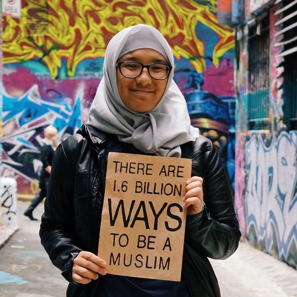 As an Indonesian, being  #Muslim to me means accepting anyone from any background. It's about fighting for equal access to everything for all humans- Sara